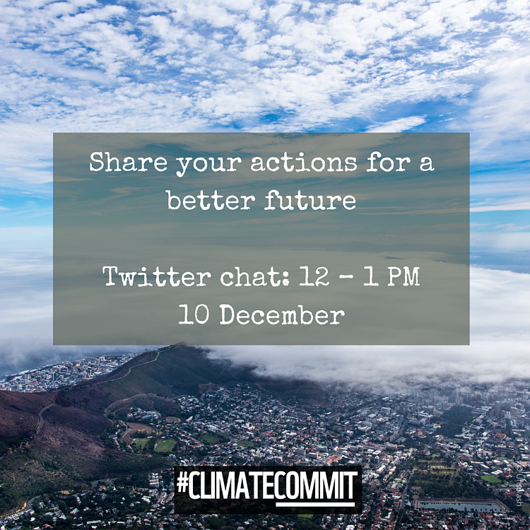 #ClimateCommit: Share your climate actions for a better future