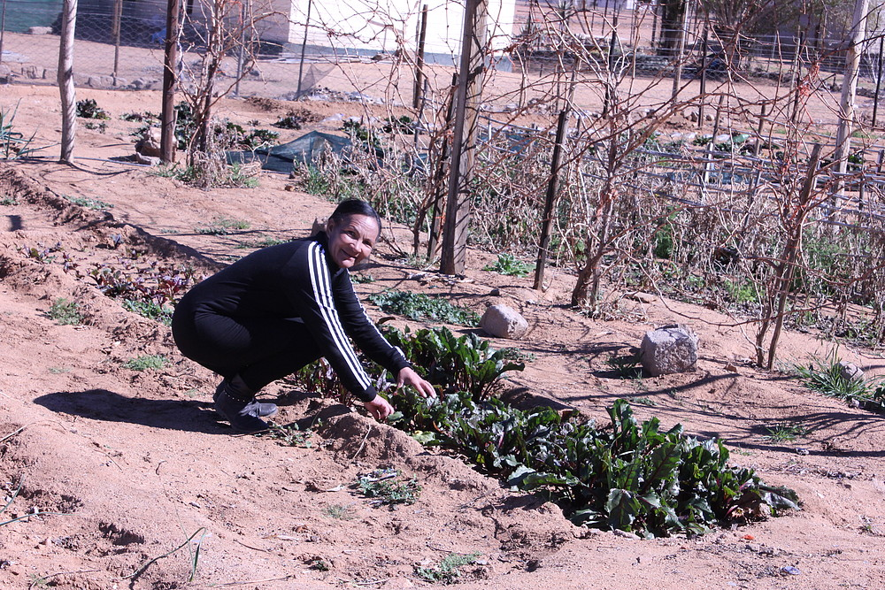 Mariana growing vegetables
